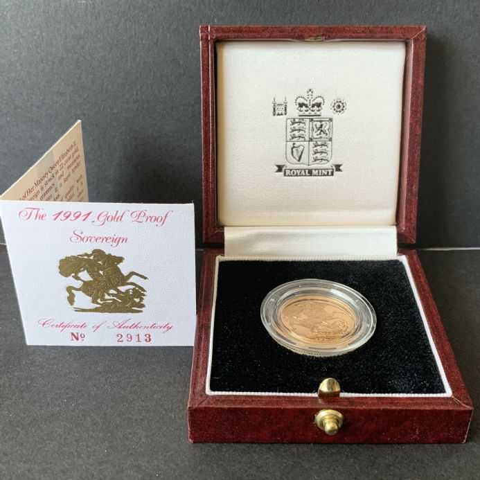 1991 Proof Full Gold Sovereign